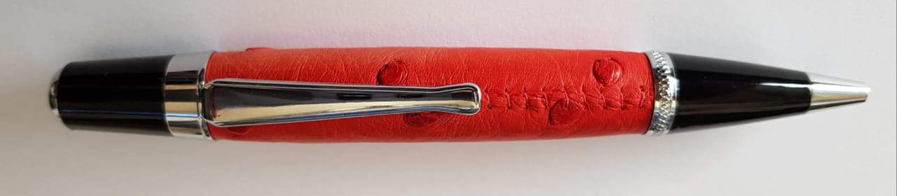 Executive ostrich pen with leather